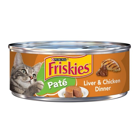 Purina Friskies Classic Pate (Liver & Chicken) - Wet Cat Food - 5.5oz can - image 1 of 3