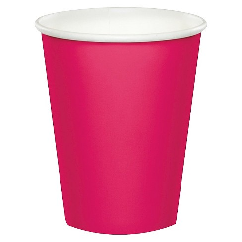 24ct Hot Magenta Pink Paper Cup - image 1 of 3