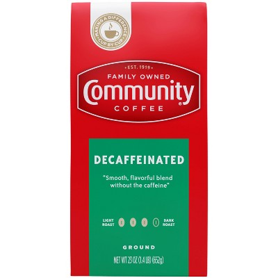 Community Coffee Decaffeinated Ground Dark Roast Coffee - 23oz