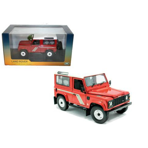 Land Rover Defender 90 Country Station Wagon Tdi Red 1/18 Diecast Model Car by Universal Hobbies - image 1 of 1