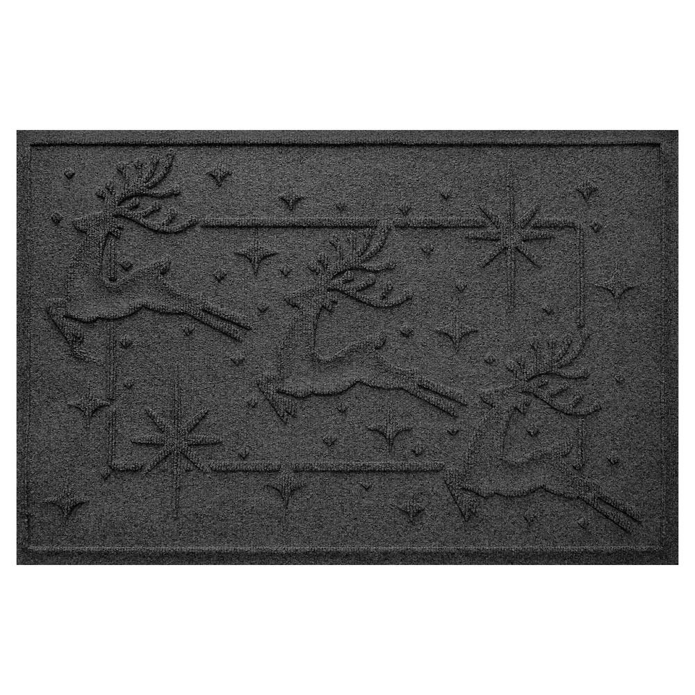 Charcoal (Grey) Animals Pressed Doormat - (2'X3') - Bungalow Flooring