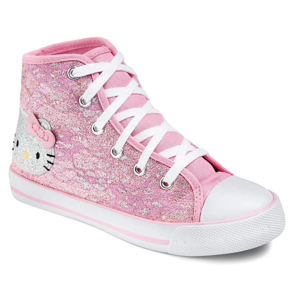 Toddler Girls' Hello Kitty High Top Canvas Sneakers - Pink 2
