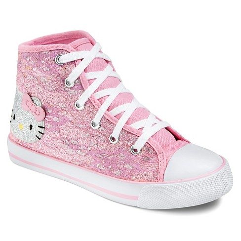 Toddler Girls Hello Kitty High Top Canvas Sneakers - Pink