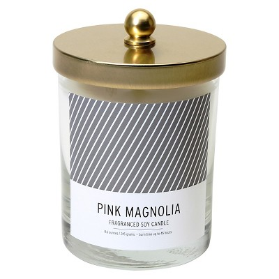 Lidded Glass Candle Pink Magnolia 8.6oz - Soho Brights