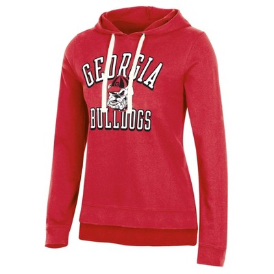 NCAA Georgia Bulldogs Women's Fleece Hooded Sweatshirt