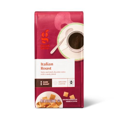 Italian Dark Roast Ground Coffee - 12oz - Good & Gather™ - image 1 of 3