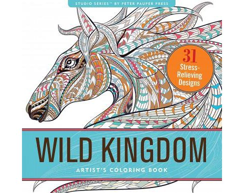 Wild Kingdom Adult Coloring Book - image 1 of 1