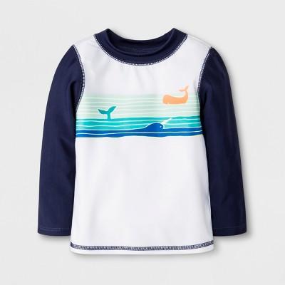 Baby Boys' Whale Rash Guard - Cat & Jack™ Navy/White 3-6M