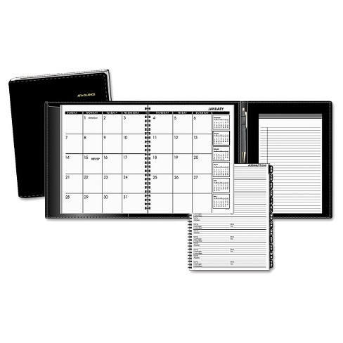 AT-A-GLANCE® Plus Monthly Planner, 6 7/8 x 8 3/4, Black, 2017 - image 1 of 1