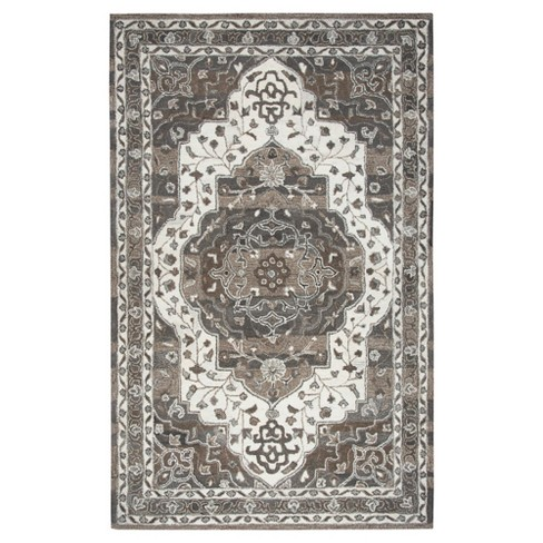 Suffolk Oriental Floral Medallion Rug Beige - Rizzy Home - image 1 of 4