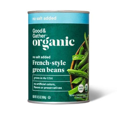 Organic No Salt Added French-Style Green Beans - 15oz - Good & Gather™