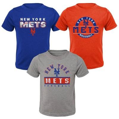 MLB New York Mets Toddler Boys' 3pk T-Shirt Set