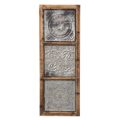 Punched Metal Vertical Wall Art - Foreside Home and Garden - image 1 of 2