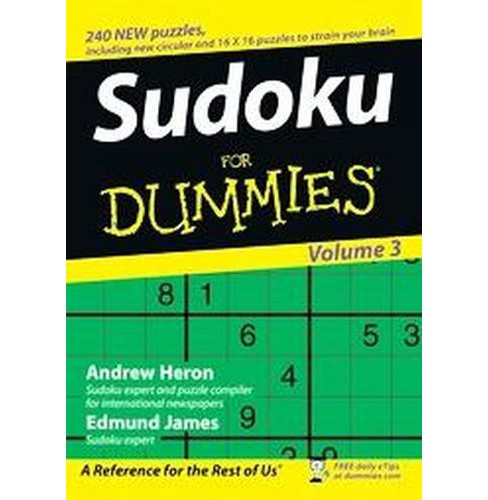 Sudoku for Dummies (Vol 3) (Paperback) (Andrew Heron & Edmund James) - image 1 of 1