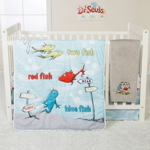 Dr Seuss One Fish Two 4 Piece, Dr Seuss Crib Bedding