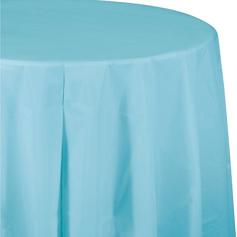 Pastel Blue Disposable Tablecloth - image 1 of 3