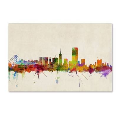 "22"" x 32"" San Francisco California by Michael Tompsett - Trademark Fine Art"