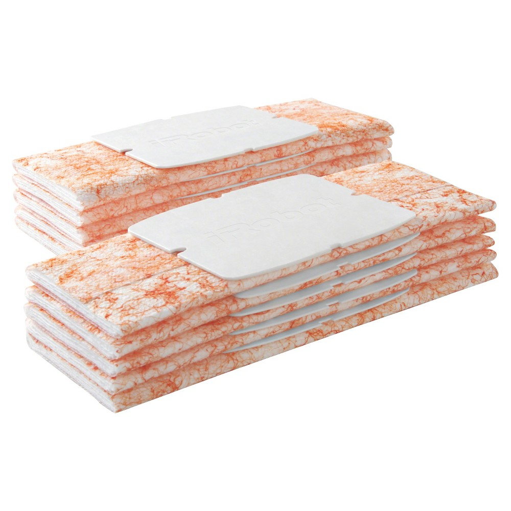 Image of iRobot Braava jet Damp Sweeping Pads, 10ct, Orange