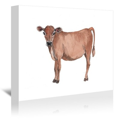Americanflat Cow by Cami Monet Wrapped Canvas