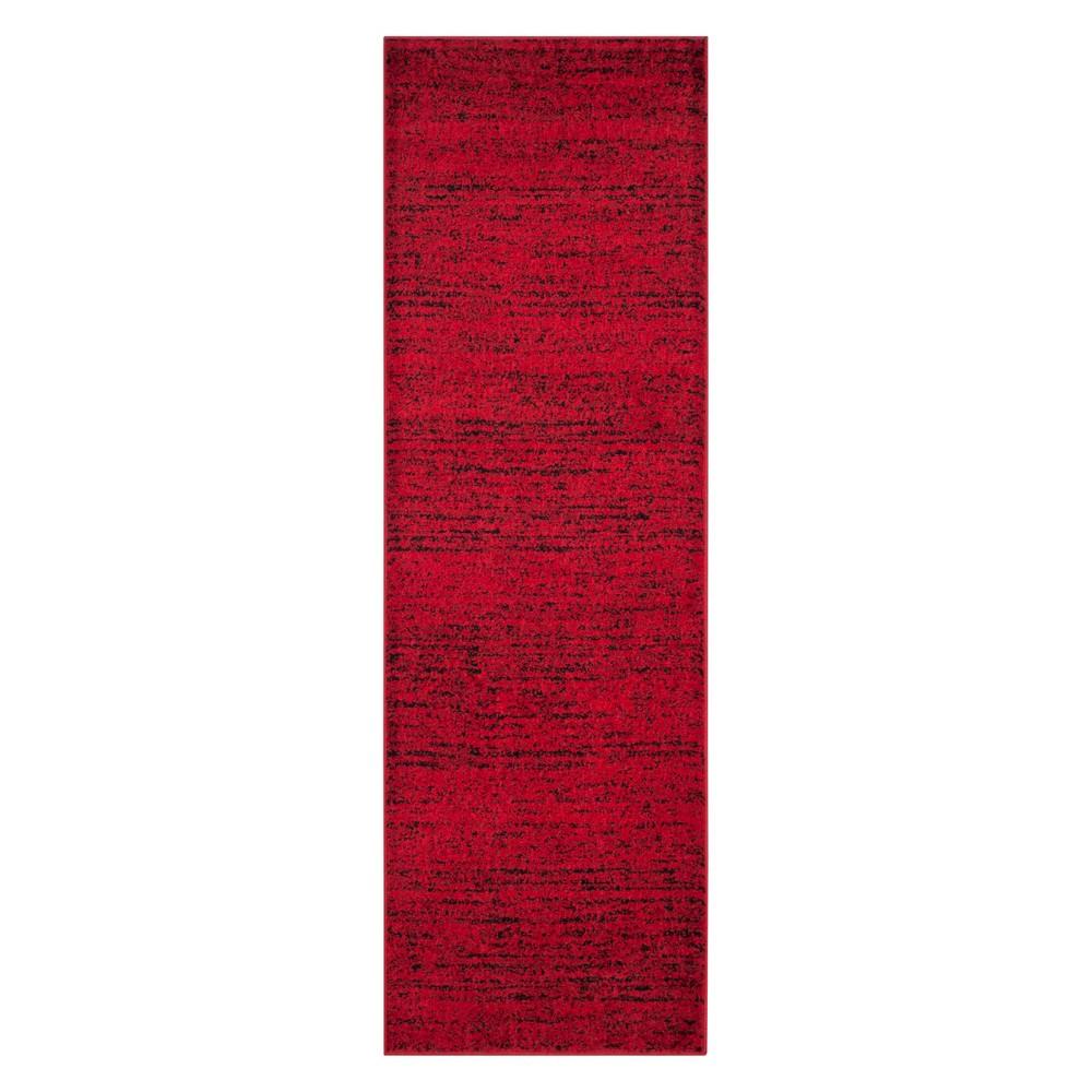 2'6X22' Spacedye Design Runner Red/Black - Safavieh