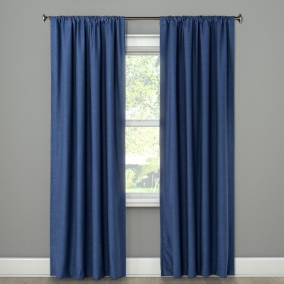 "84""x50"" Henna Blackout Curtain Panel Blue - Project 62™"