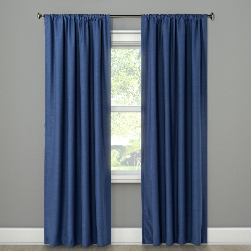 63 Light Filtering Curtain Panel Henna Blue - Project 62, Washed Blue
