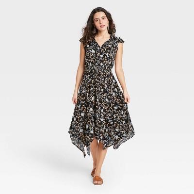 Women's Flutter Short Sleeve Smocked Waist Dress - Knox Rose™