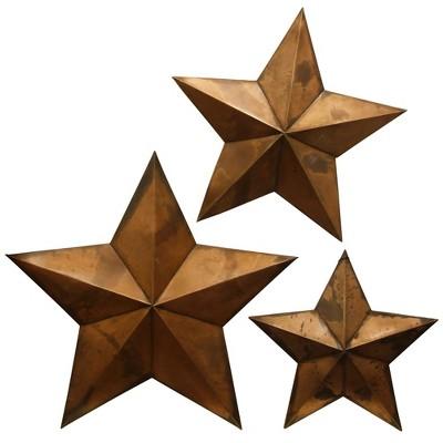 21  3pc Capitals Metal Decorative Wall Art Copper - StyleCraft