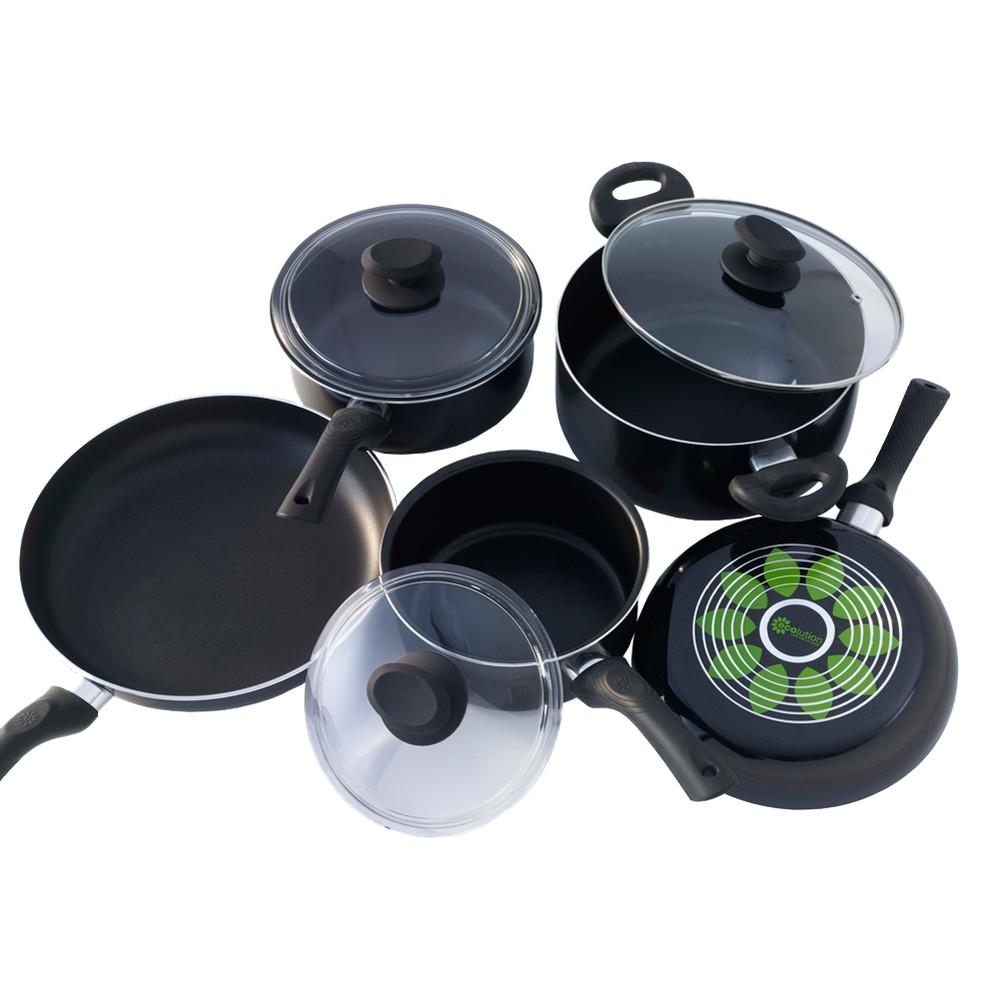 Image of Ecolution Artistry Cookware Set - 8 Piece, Black