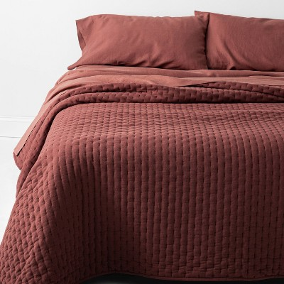 Full/Queen Cashmere Blend Quilt Dark Clay - Casaluna™