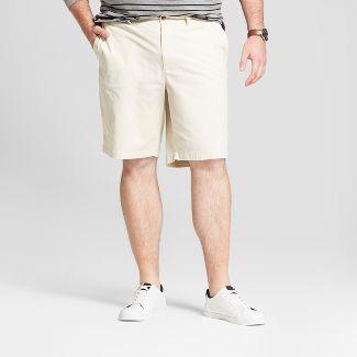 "Men's Big & Tall 10.5"" Linden Flat Front Chino Shorts - Goodfellow & Co™ Light Cream 46"