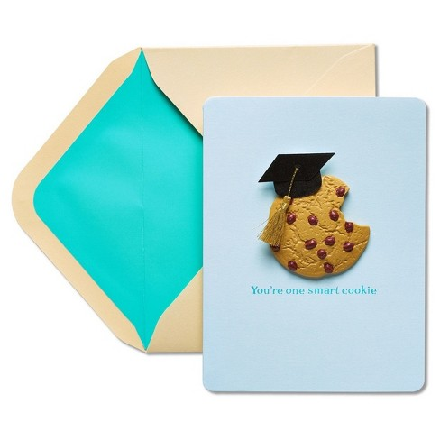 Papyrus You're One Smart Cookie Graduation Card with Dimensional Attachment - image 1 of 4