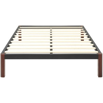 Classic Brands DeCoro Devon Modern Style Wood Slat and Metal Platform Bed Frame with 14 Inch Legs and No Box Spring Required, King Size