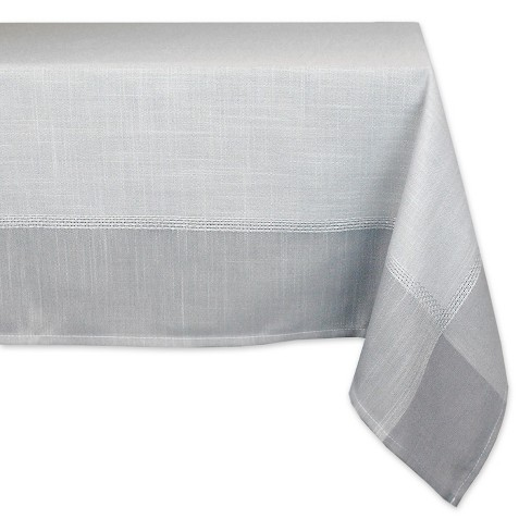 "Design Imports 84""X60"" Tablecloth Gray - image 1 of 1"
