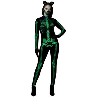 Adult Skeleton Glow Catsuit Halloween Costume