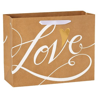 Medium Gift Bag Wedding Love Kraft - Spritz™