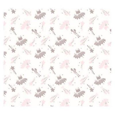 NoJo Fitted Crib Sheet - Ballerina Bows - White