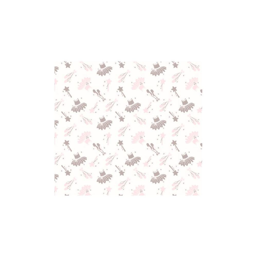 Image of NoJo Fitted Crib Sheet - Ballerina Bows - White