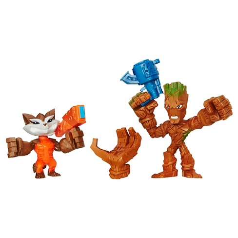 Marvel Super Hero Mashers Micro Groot and Rocket Raccoon 2 Pack - image 1 of 2