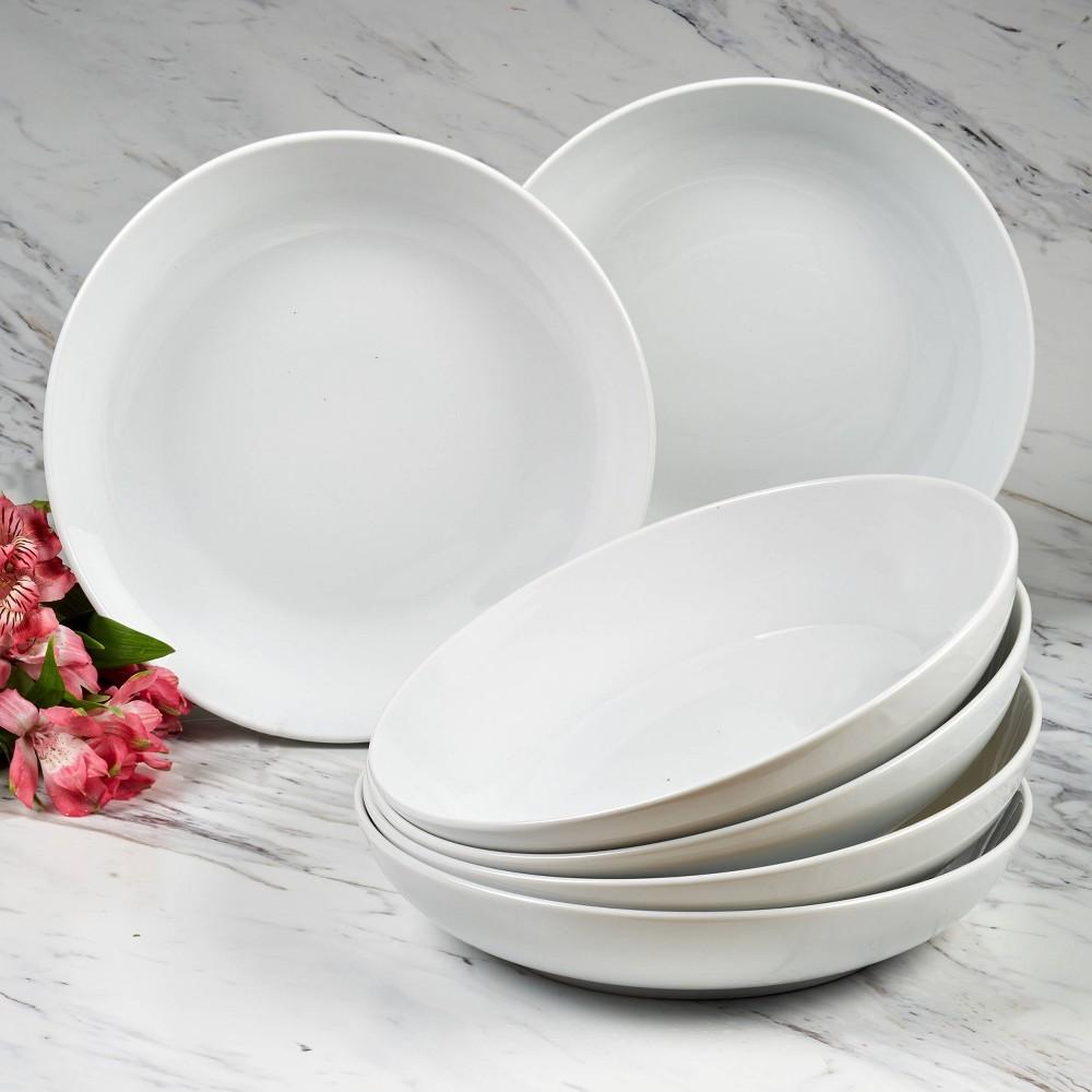 48oz 6pk Porcelain Bianca Dinner Bowls White Certified International