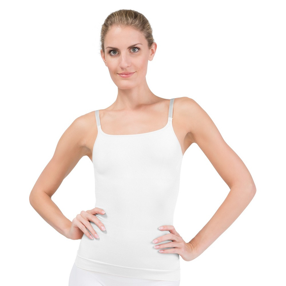 Assets by Spanx Women's All Around Smoothers Shaping Camisole - White L