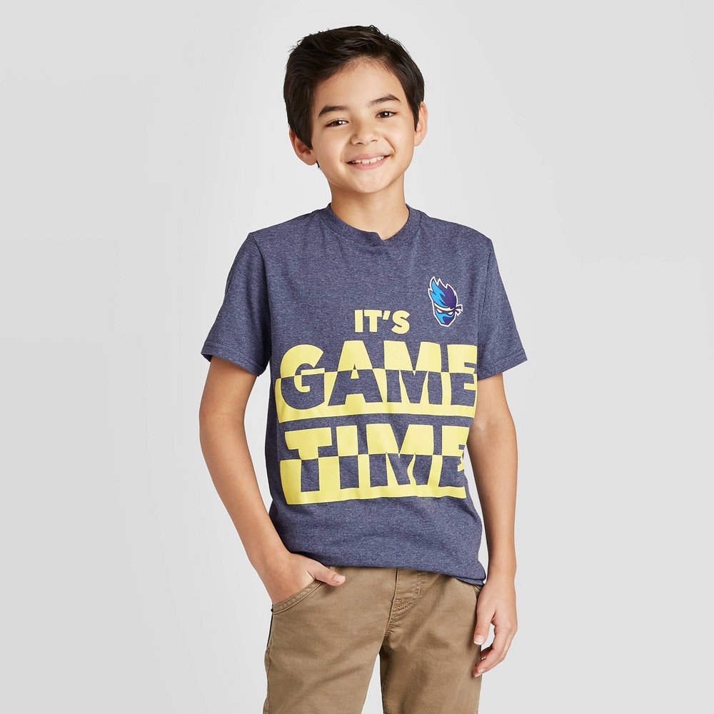 Image of Boys' Ninja Game Time Graphic T-Shirt - Blue, Boy's, Size: Large