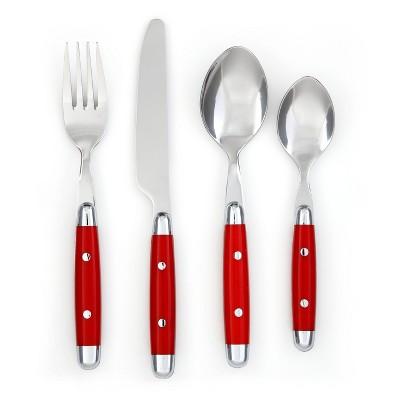 Cambridge® Jubilee 16pc Silverware Set Red