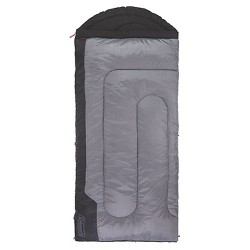 Coleman Torrey 30 Degree Big and Tall Sleeping Bag - Black/Gray