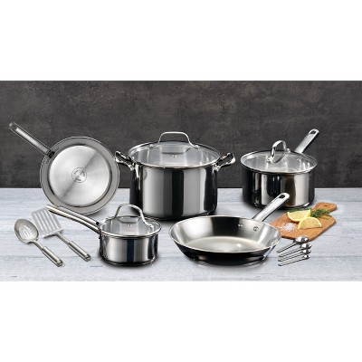 T-Fal 14pc Stainless Steel Cookware Set