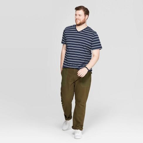 ba6f23fdfa53 Men's Tall Striped Novelty V-Neck T-Shirt - Goodfellow & Co™ Blue Beam XLT.  Shop all Goodfellow & Co