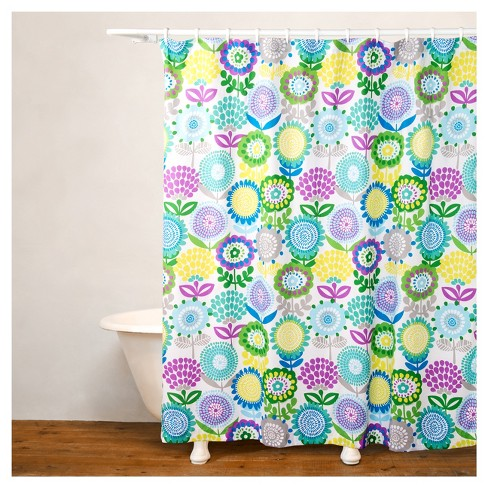 Crayola Pointillist Pansy Shower Curtain Target