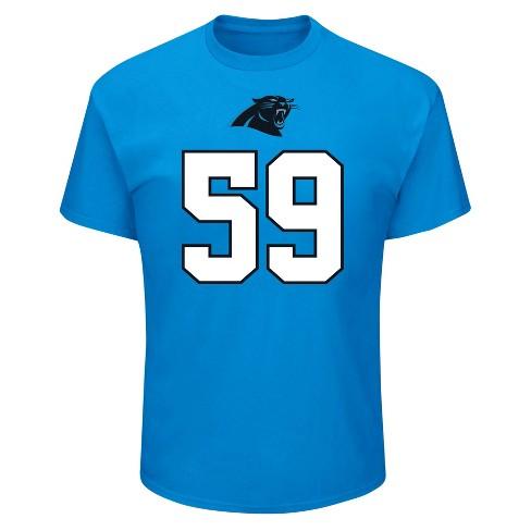 huge selection of c1667 43fe3 Carolina Panthers Men's Luke Kuechly Jersey T-Shirt - XXL