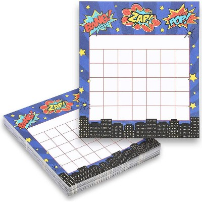 """60-Pack Classroom Incentive Charts, Motivate Nice Behavior for Teachers Students, Hero Themed, 6x5.25"""""""