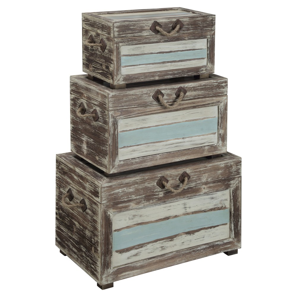 Nautical Accent Trunks - Multicolored - Christopher Knight Home, Multi-Colored